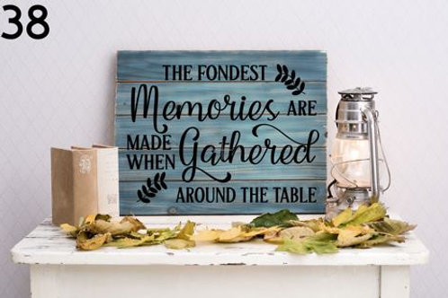 Memories are gathered around the table