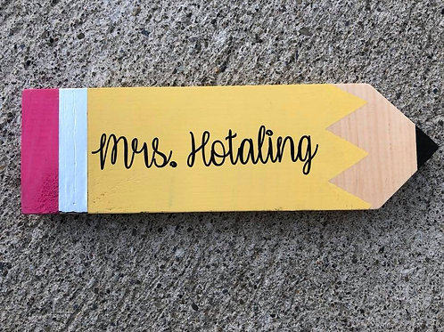 Custom teacher name plaque