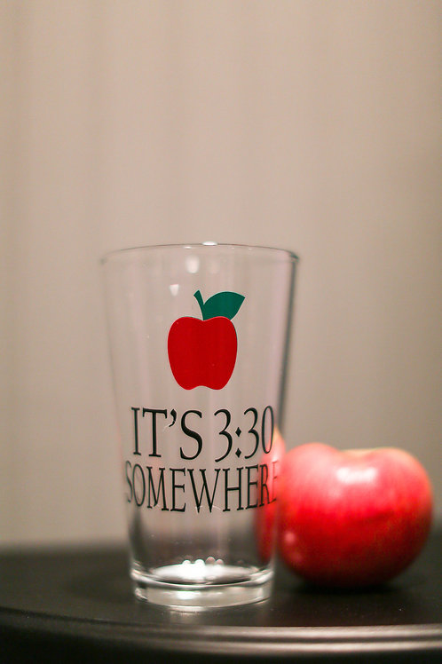 It's 3:30 somewhere Teacher pint glass