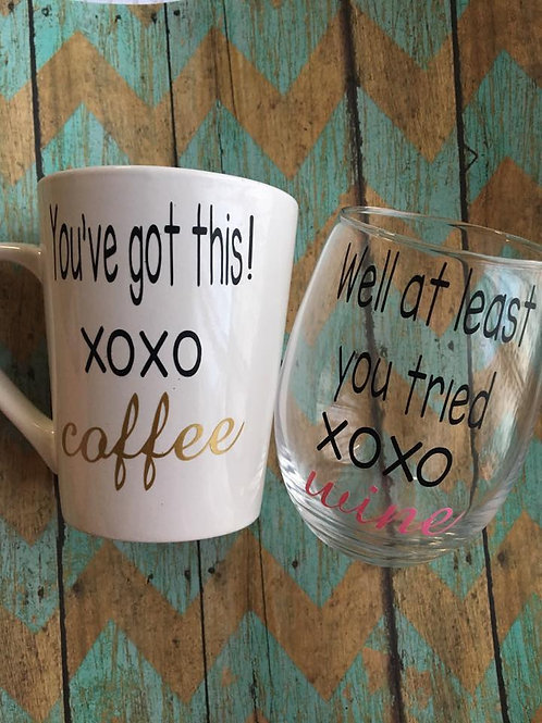 Coffee and wine set