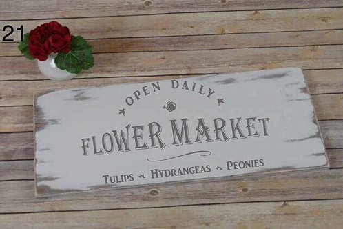 open daily, flower market