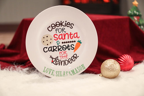 Cookies for Santa Plate- personalized