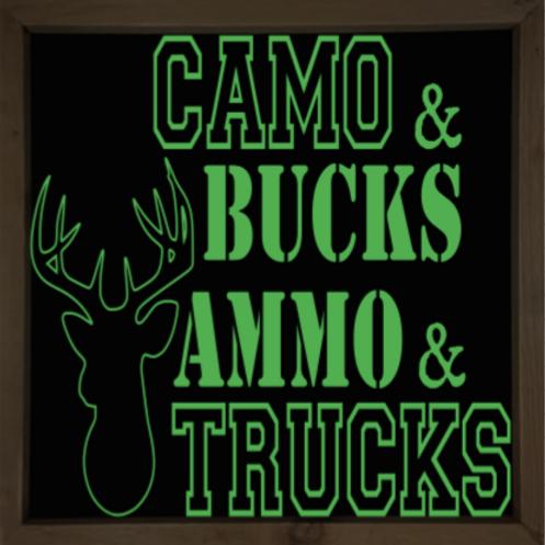 Camo & bucks sign