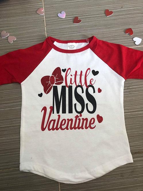 Little Miss Valentine Raglan