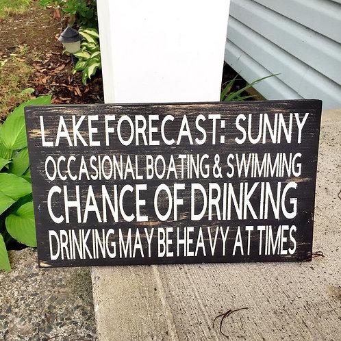 Lake summer sign