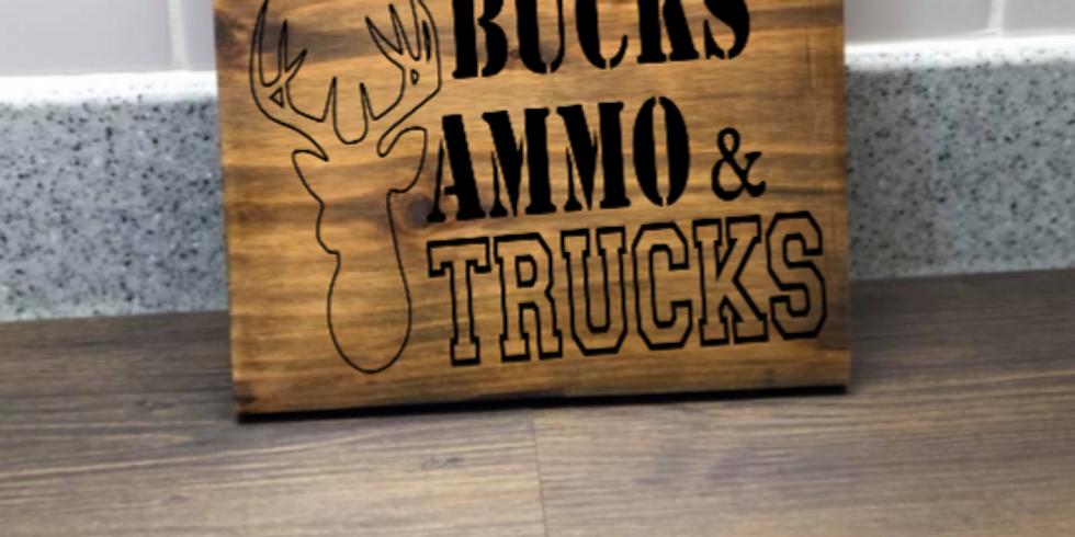 Amanda's wood sign & sip party!