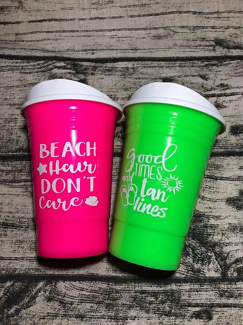 Reusable summer solo cups