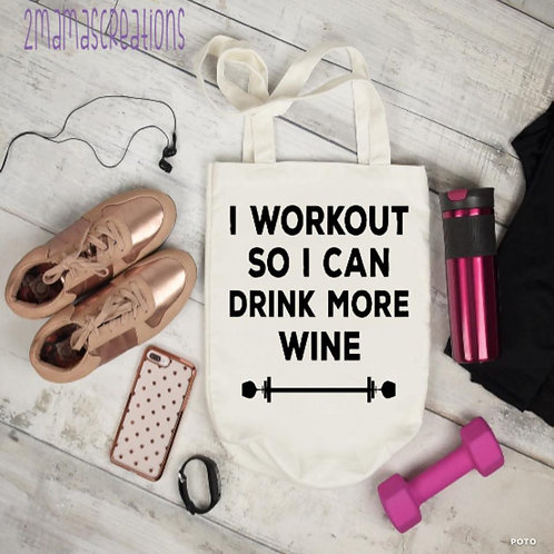 Workout tote bag
