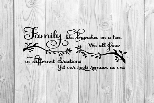 FAMILY BRANCHES SIGN