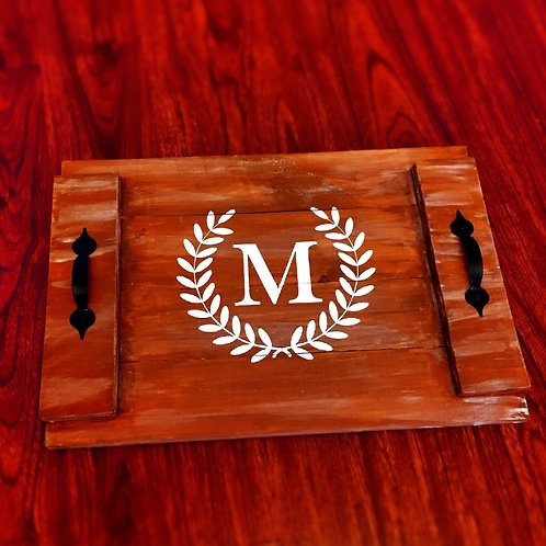 CUSTOMIZED WOODEN TRAY WITH HANDLES