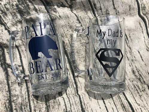 Father's Day beer mugs