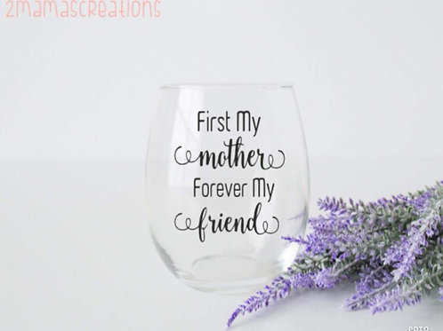 Mother's day wine glass