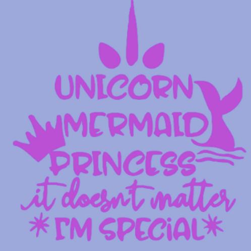 Unicorn, mermaid, princess sign