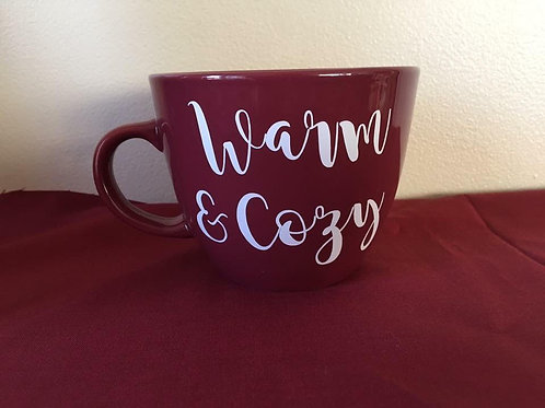 Warm and cozy coffee mug
