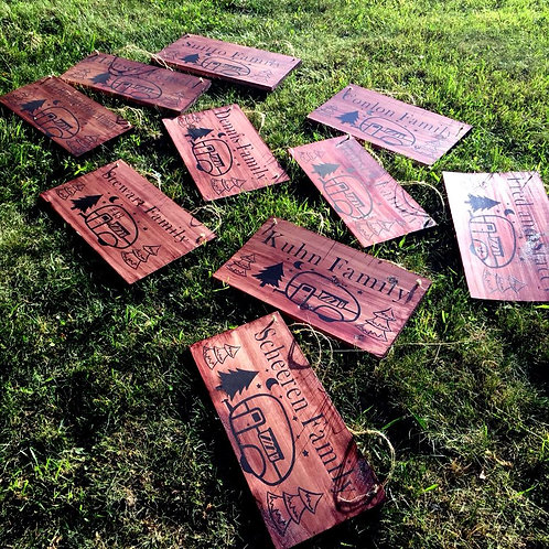 custom camp signs