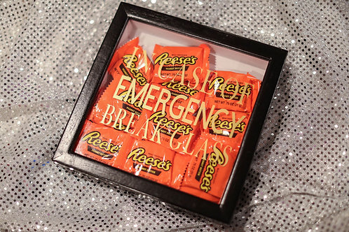 In case of emergency break glass shadow box