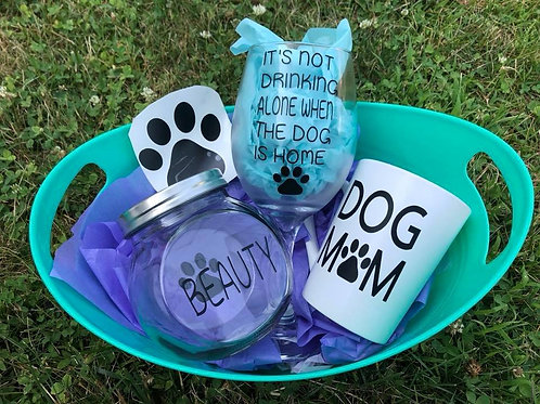 Personalized Dog Lover's Basket