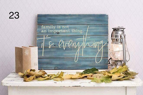 Family is not an important thing... it's everything