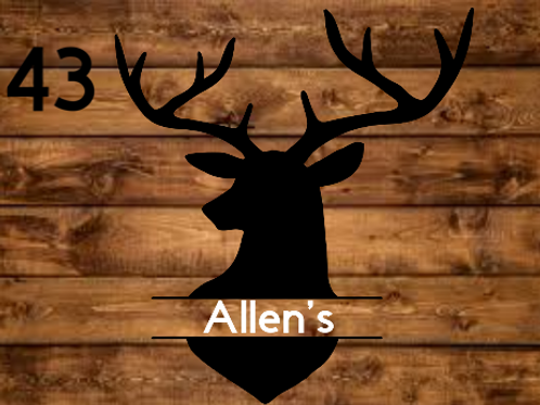 Customized Deer Sign