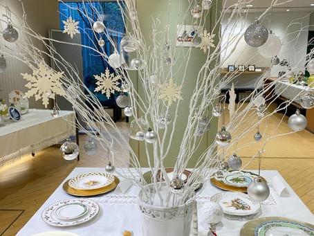 陶磁器絵付け クリスマス作品展示中