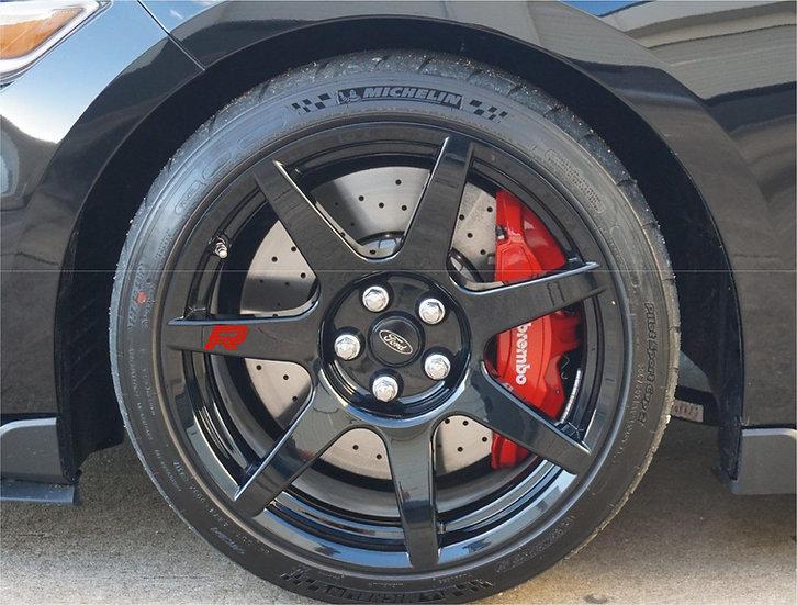 """GT350R """"R"""" Wheel Decals"""