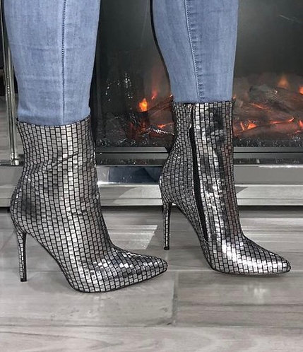 Metallic Ankle Bootie