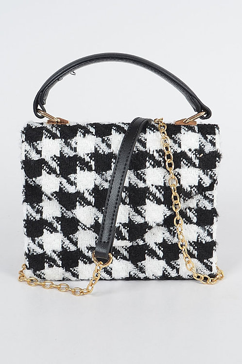 Houndstooth Mini Crossbody