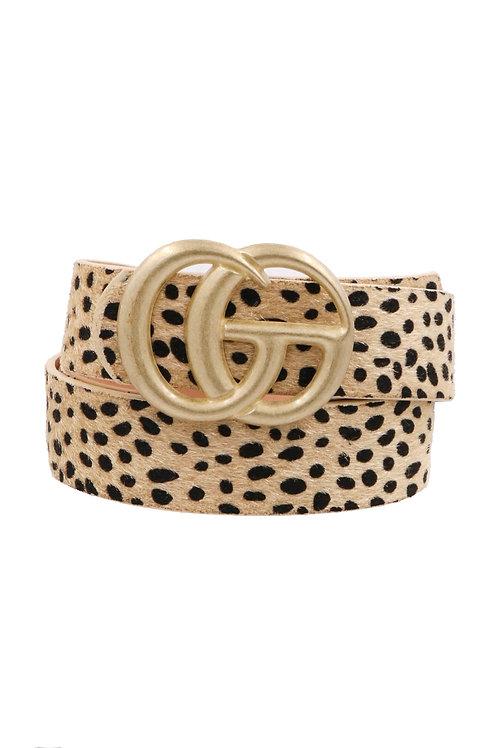 Cheetah Print Belt