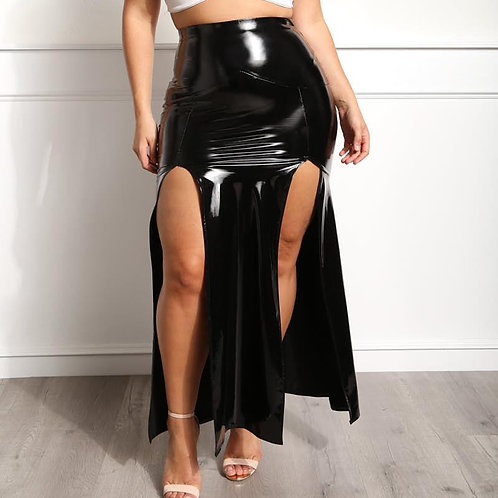 Plus Size Double Split Skirt