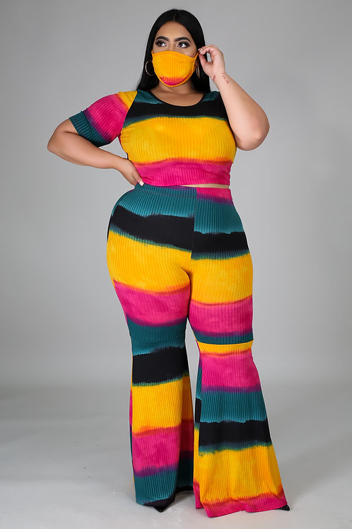 Plus Size Pant Set