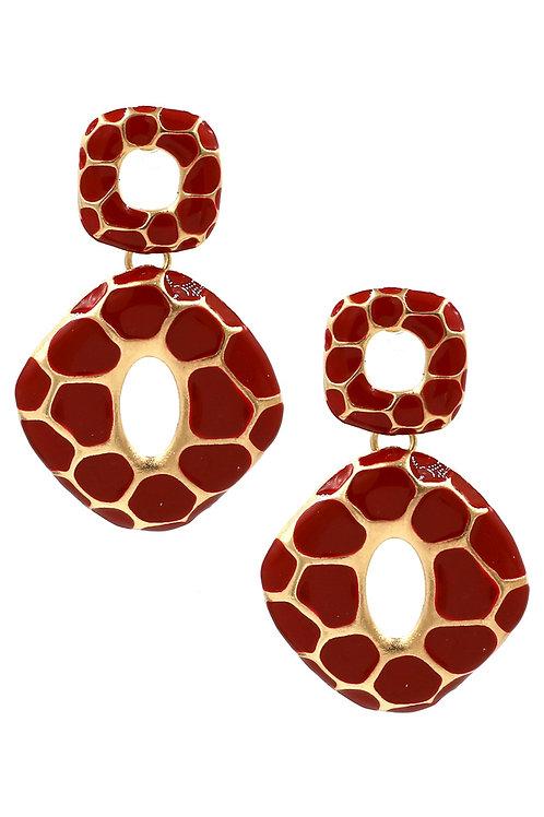 Alloy Leopard Print Earrings