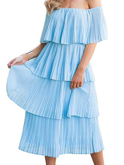 Plus Size Tiered Ruffle Midi Dress