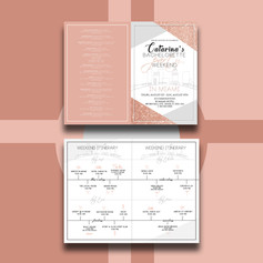 Bachelorette Itinerary Booklet