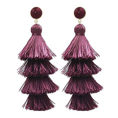 Tiered Tassel Earrings