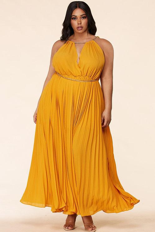 Plus Size Halter Maxi Dress