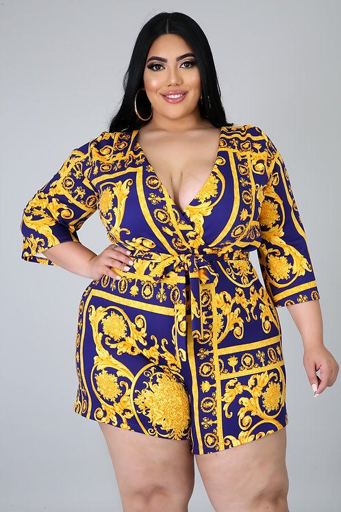 Plus Size Royal Romper