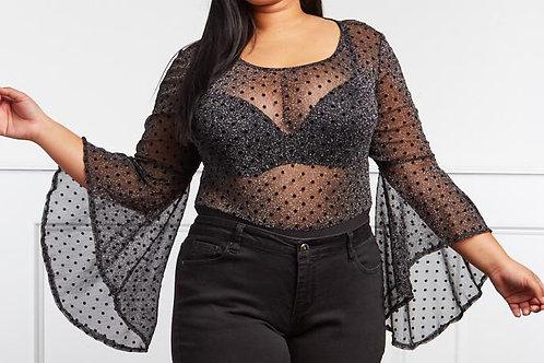 Plus Size Glitter Bodysuit