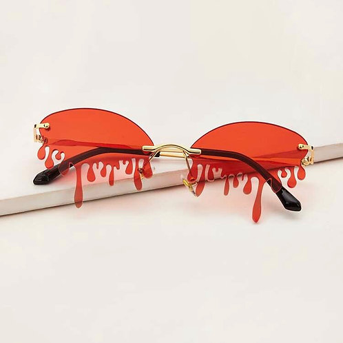 Dripping Oval Sunglasses