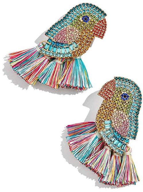 Bird Fringe Earrings