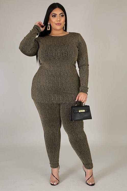 Plus Size Shimmer Legging Set
