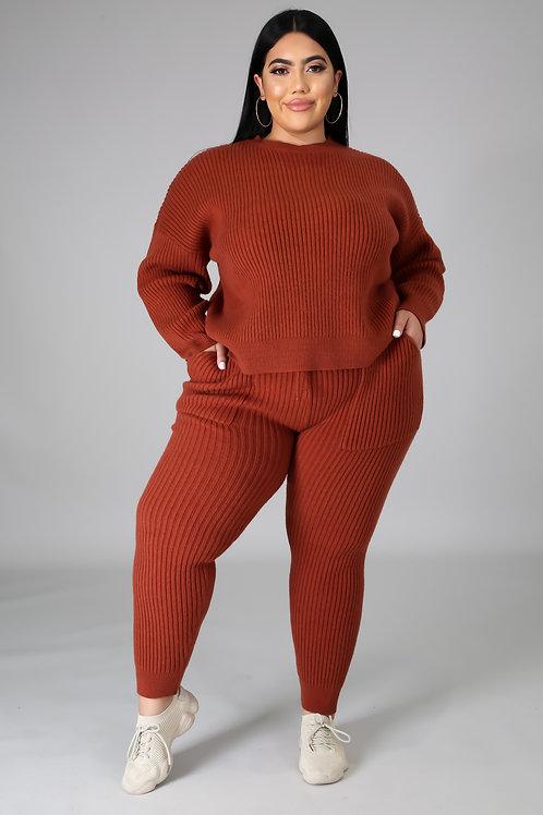 Plus Size Sweater Set