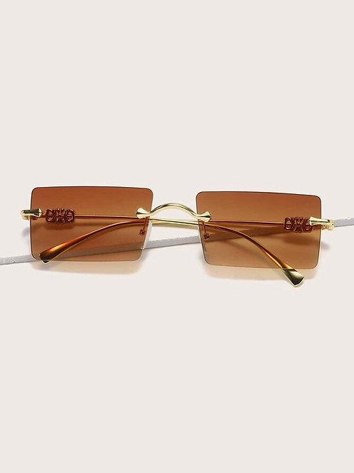 Metal Rimless Sunglasses