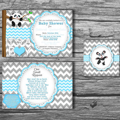 Baby Shower Invitation and Tag