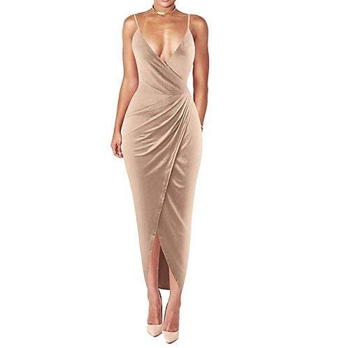 Spaghetti Strap Bodycon Wrap Dress