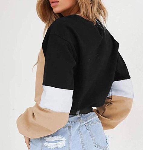 Drawstring Colorblock Sweatshirt