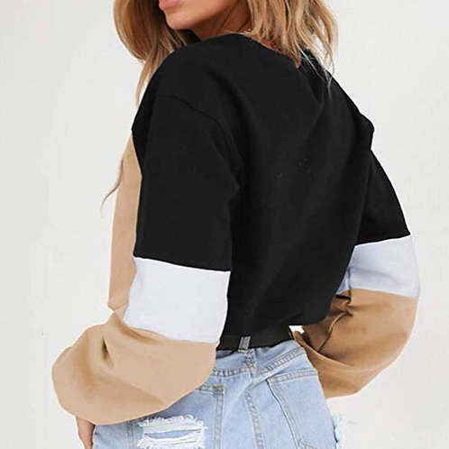 Drawstring Colorblock Sweatshirt