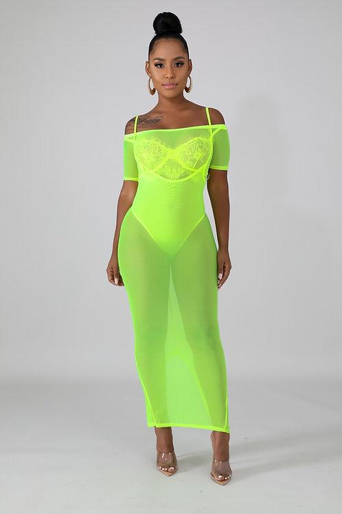 Mesh Cover up Skirt Set
