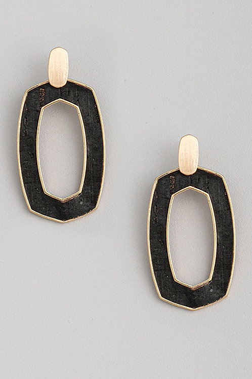 Cork Drop Earrings