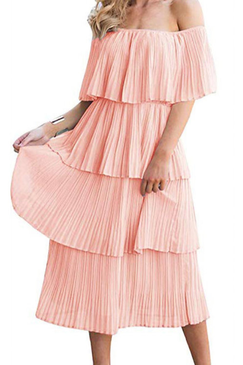 Tiered Ruffle Midi Dress