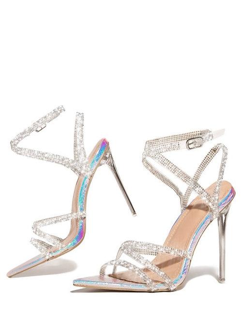 Iridescent Rhinestone Heels